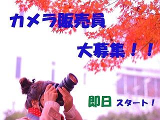 【時給1700円!】即日開始!国内メーカーの一眼レフ販売! イメージ1