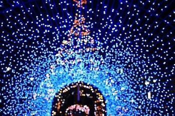 東京駅で美しい光と映像のイルミネーション! イメージ1
